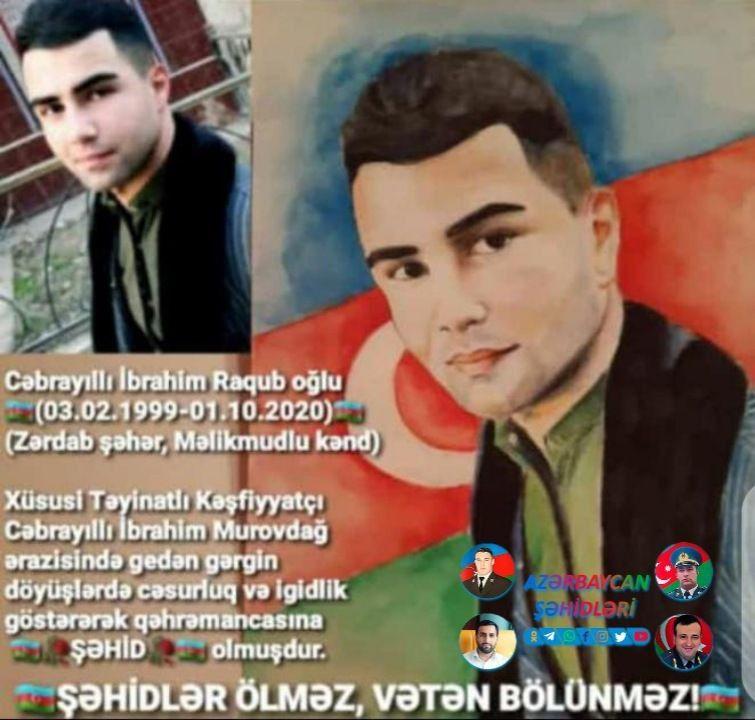 Səhid Cəbrayilli Ibrahim Ruhun Sad Olsun Səhidim Baseball Cards Cards Baseball
