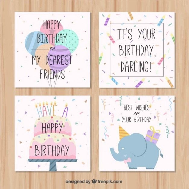 Pin by Dayra Esquer on PSD PNG VECTORS Pinterest Vector hand - birthday card template