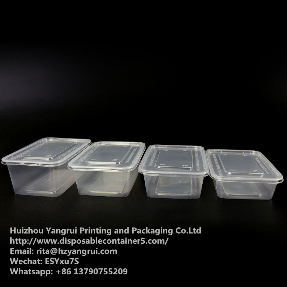 Rectangular disposable food containers Food grade, 100% new material