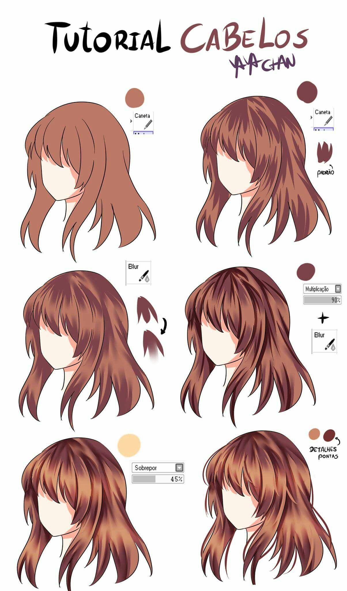 Hairstyle Shading Art Reference Menggambar Rambut Tutorial Gambar Kartun Sketsa