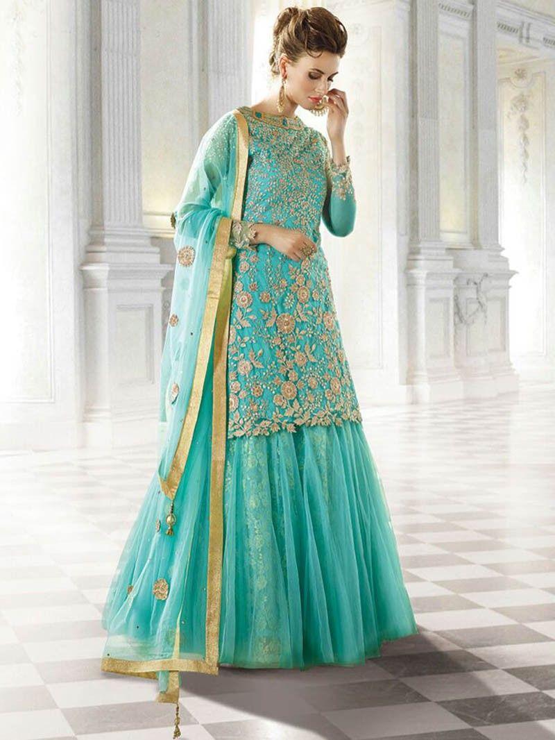 Sea+Green+Color+Latest+Designer+Heavy+Embroidery+Anarkali ...