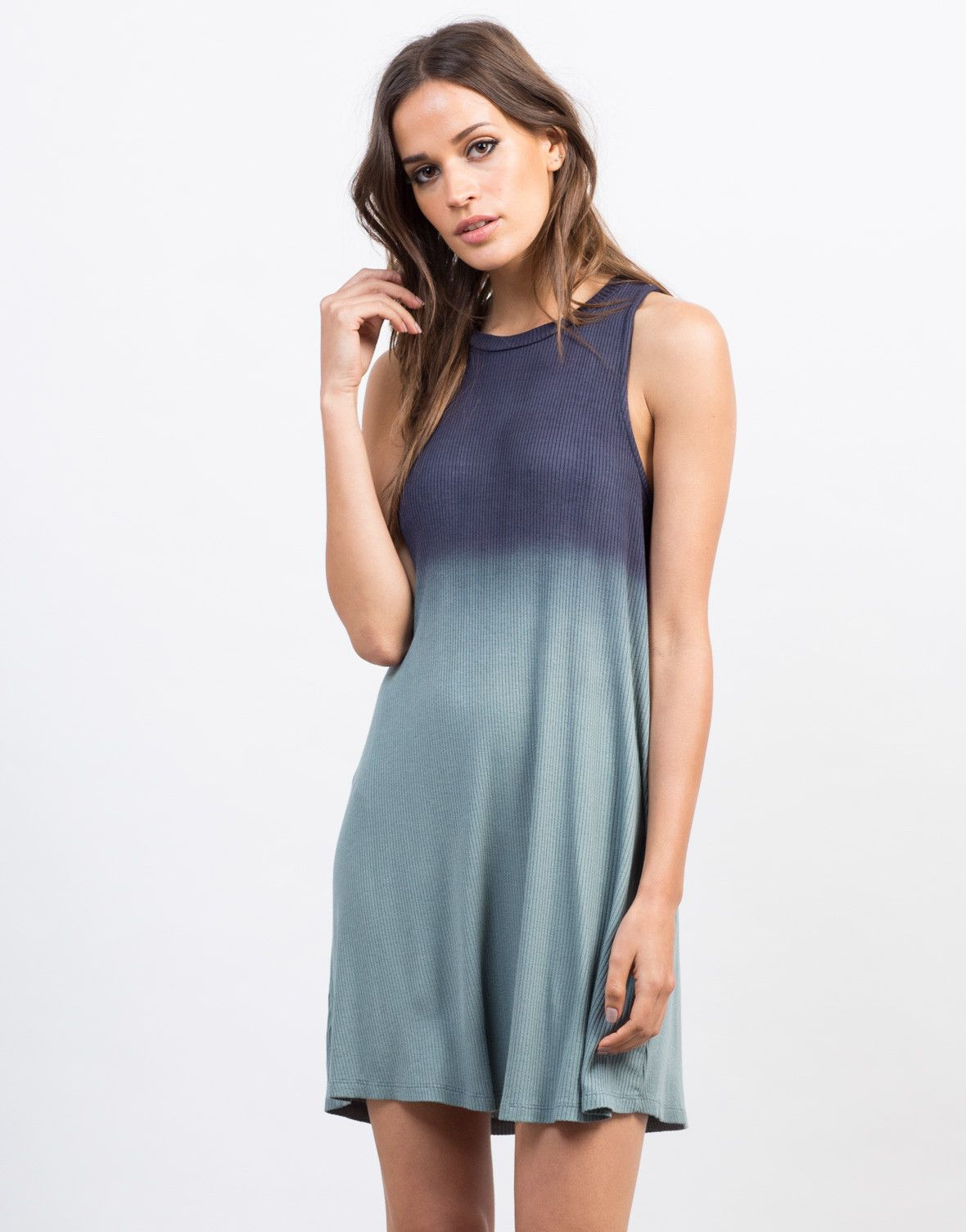 Ombre Flowy Tank Dress | Tank dress, Fedoras and Ombre