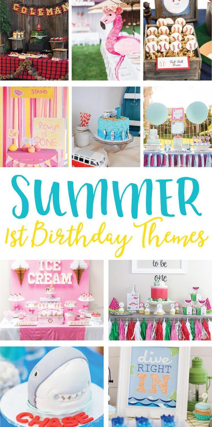 Summer 1st Birthday Party Ideas First Birthday Party Themes Pool Birthday Party 1st Birthday Parties