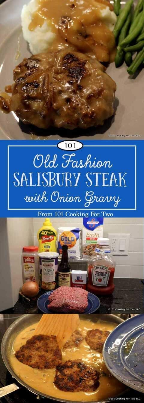fashion Salisbury Steak with Onion Gravy will bring back memories and will become a weeknight favorite. via @drdan101cft