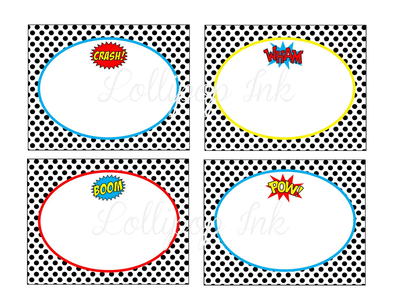 Superhero Large Label