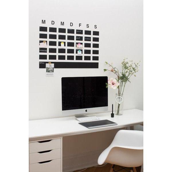 Wandtattoo Aus Tafelfolie Kalender Arbeitsplatz Organisieren
