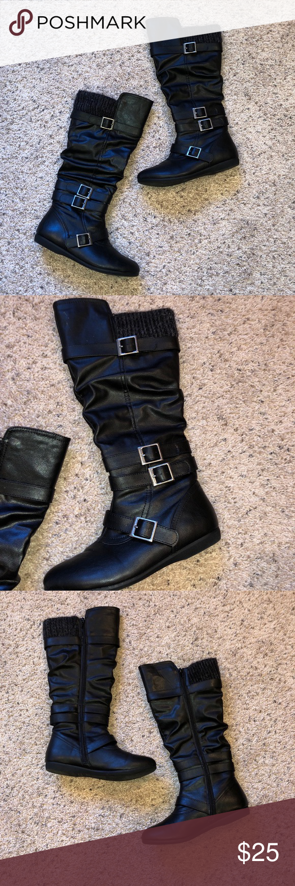 Bongo Black Myra Boots This Is A Size 8 Pair Of Bongo Black Boots In Great Condition Barley Worn Great To Wear With A Pair O Boots Black Boots Black Leggings