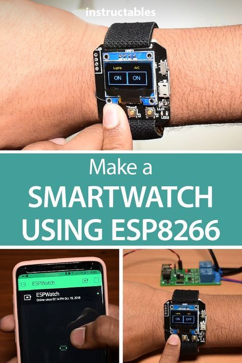 Make a Smartwatch using ESP8266 chip. #arduino #electronics #technology #homeautomation