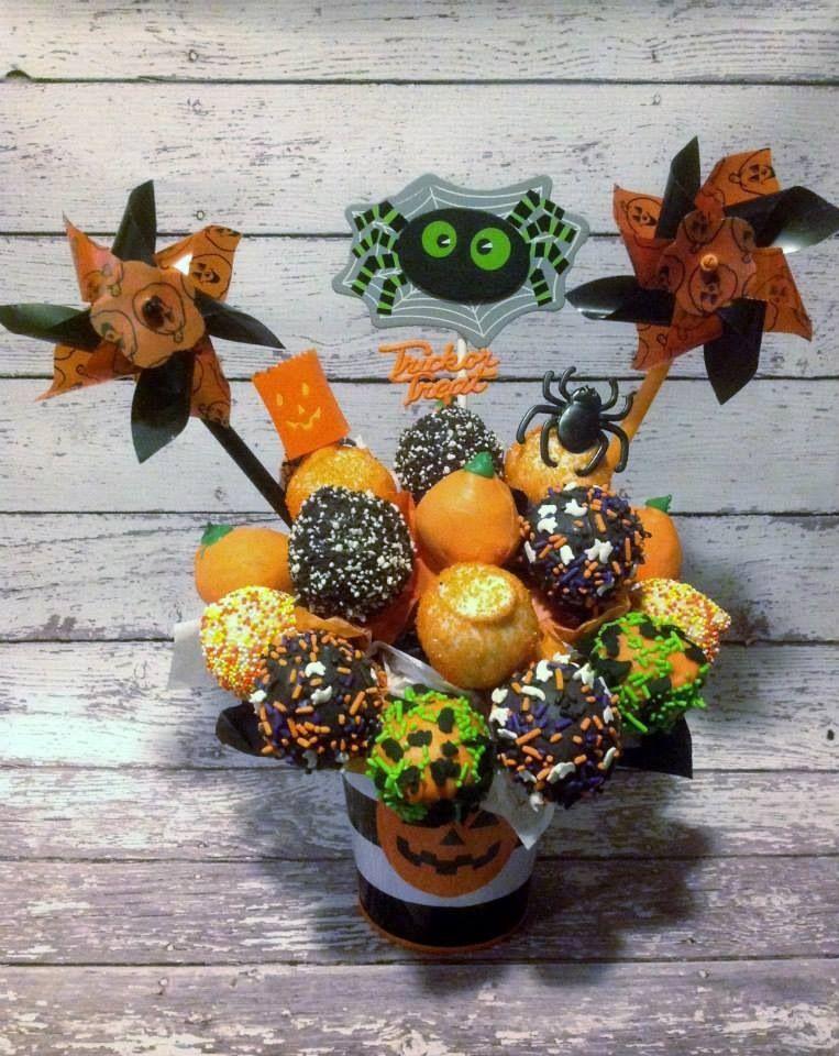 Halloween cake pops #cakepopbouquet