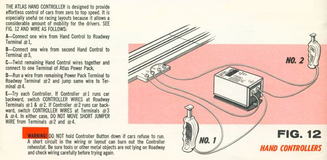 Atlas Two Lane Two Plunger HO Scale Slot Car Track Wiring Diagram