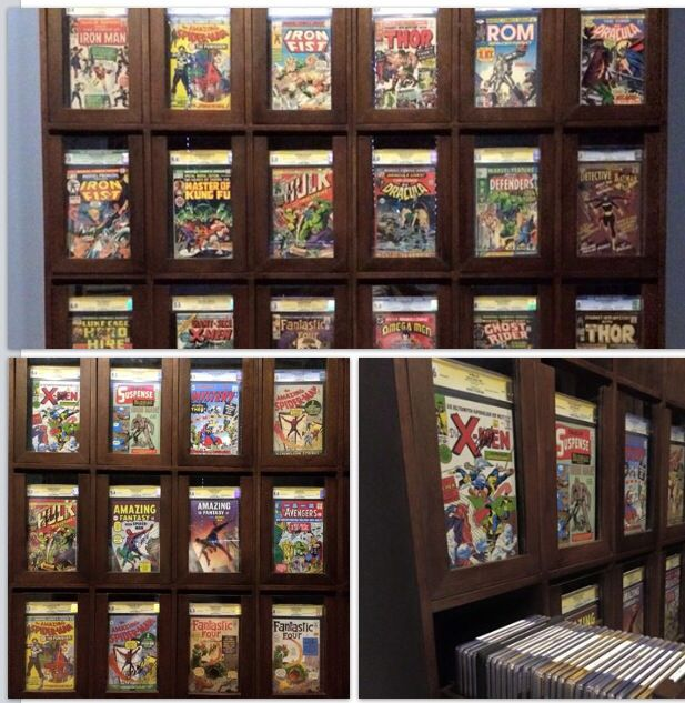 My CGC & Comic display/storage cabinet | Comic Book Storage ...