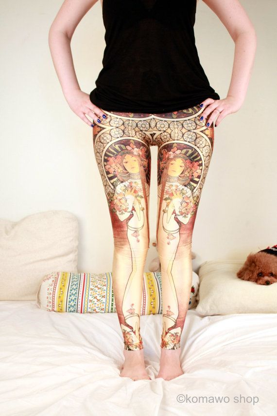 GREEK GODDESS LEGGINGS Printed Cool Leggings/Sports by KOMAWO ...
