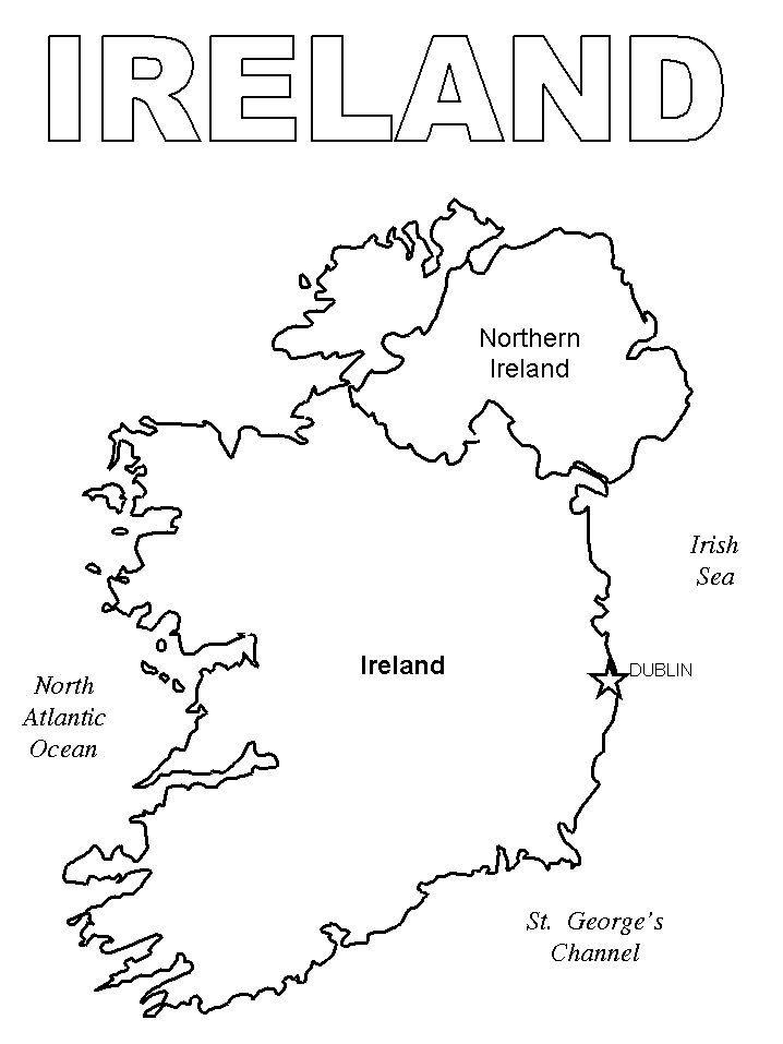 Ireland 1 Coloring Pages Ireland Ireland Map World Thinking