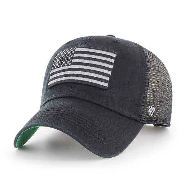 Operation Hat Trick Clean Up Trawler Black 47 Brand Adjustable USA Flag Hat b4b2fe7c6