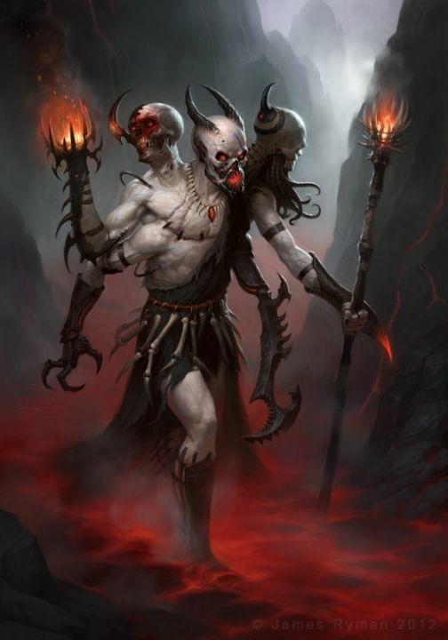 Imagenes Del Diablo Y Una De Un Perro Criaturas Mitologicas Demon Art Criaturas Fantasticas