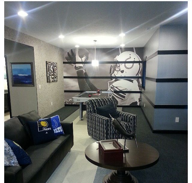 Basement Decorating Ideas For Men: Basement Idea I Need A Ravens Basement