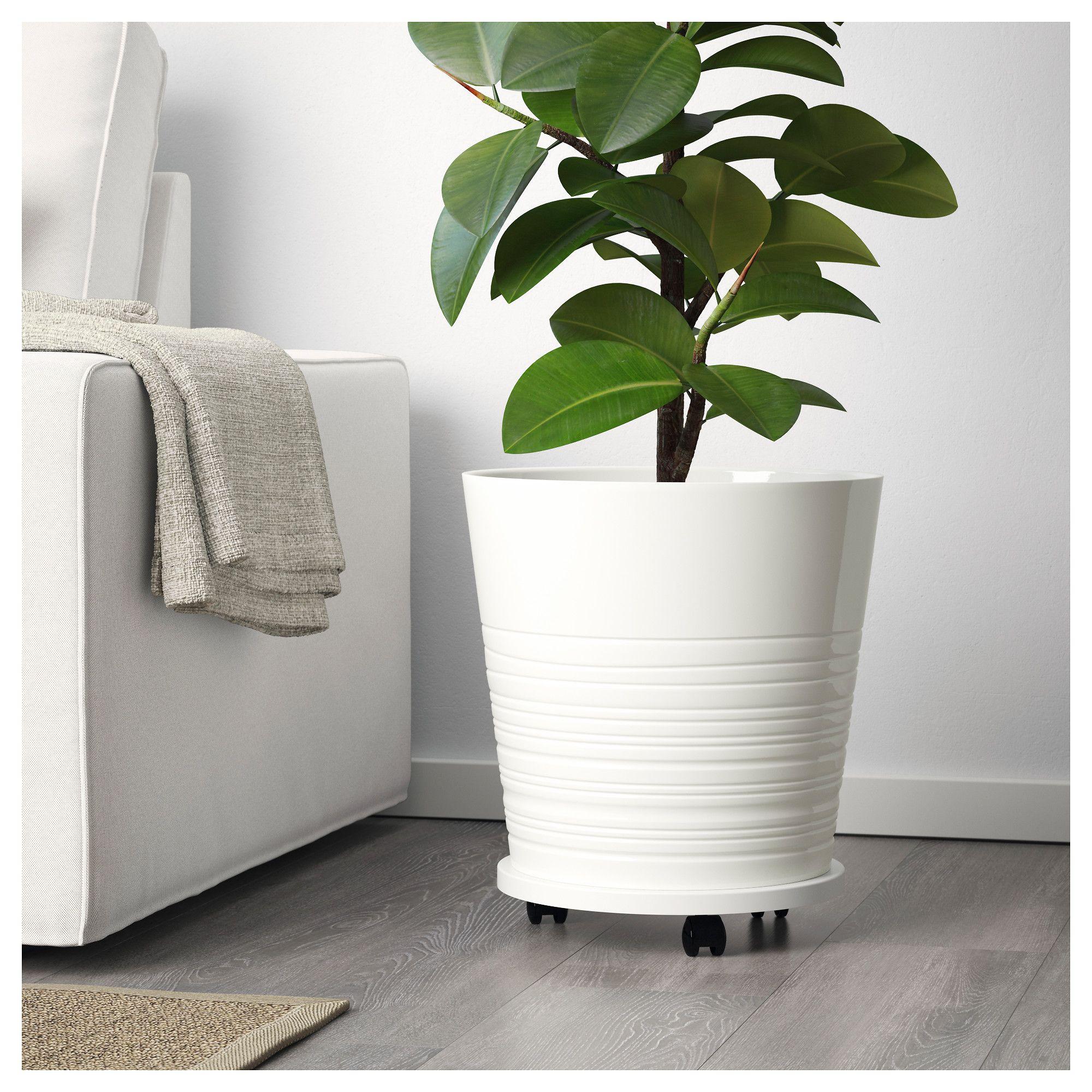 Ikea Muskot Plant Pot White