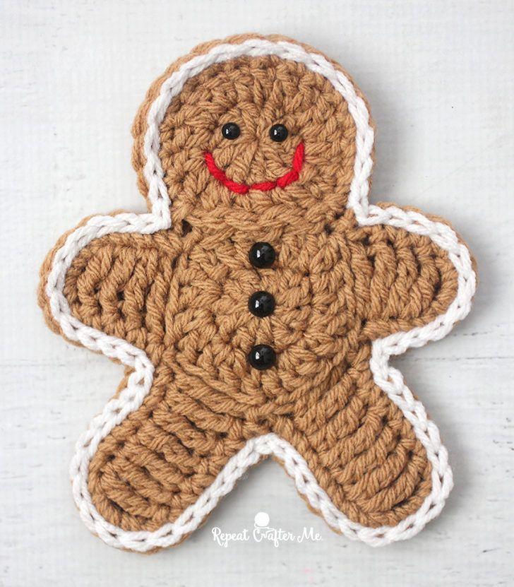Crochet Gingerbread Man | Lebkuchenmann, Häkeln und Stricken und häkeln