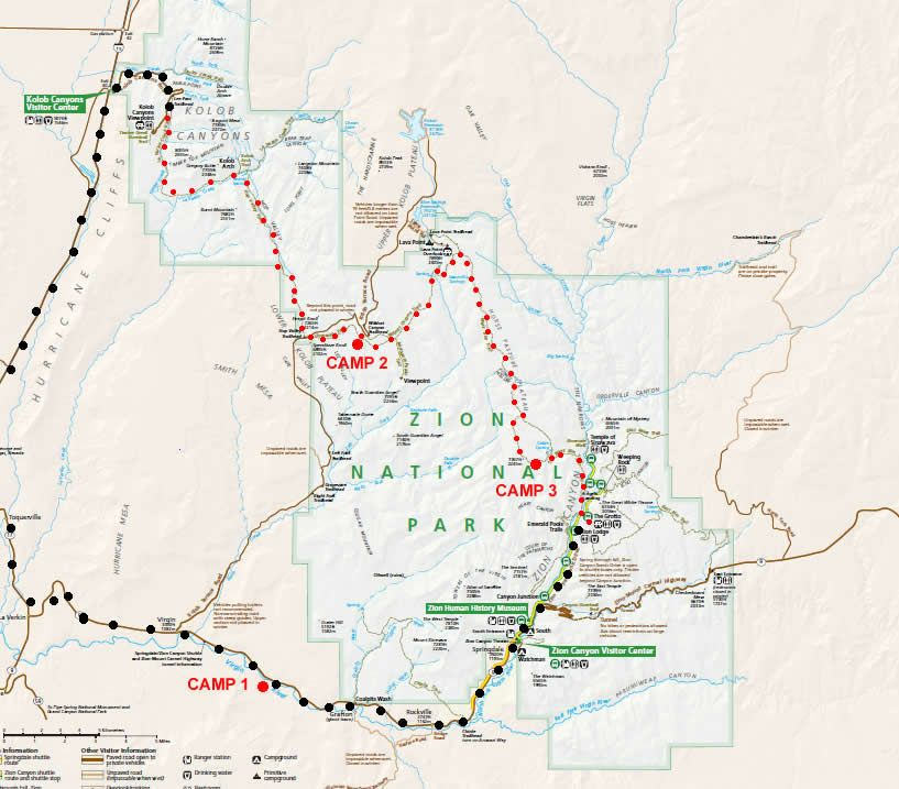 Traverse Zion Hiking Pinterest National park utah Park and Hiking