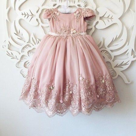 cb4ae3c48 Vestido Ingrid rosa seco | INFANTIL BORDADO | Barnkläder e Kläder