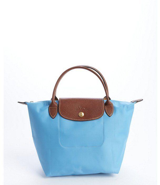 6b76fe2e0 Longchamp light blue nylon 'Le Pliage' small tote on shopstyle.com ...