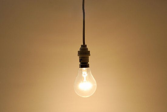 Bare Hanging Light Bulb Poster