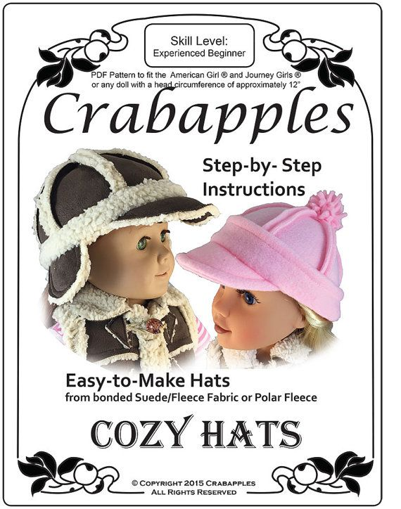 Cozy Hats for American Girl and Journey Girl | Doll Patterns | Pinterest