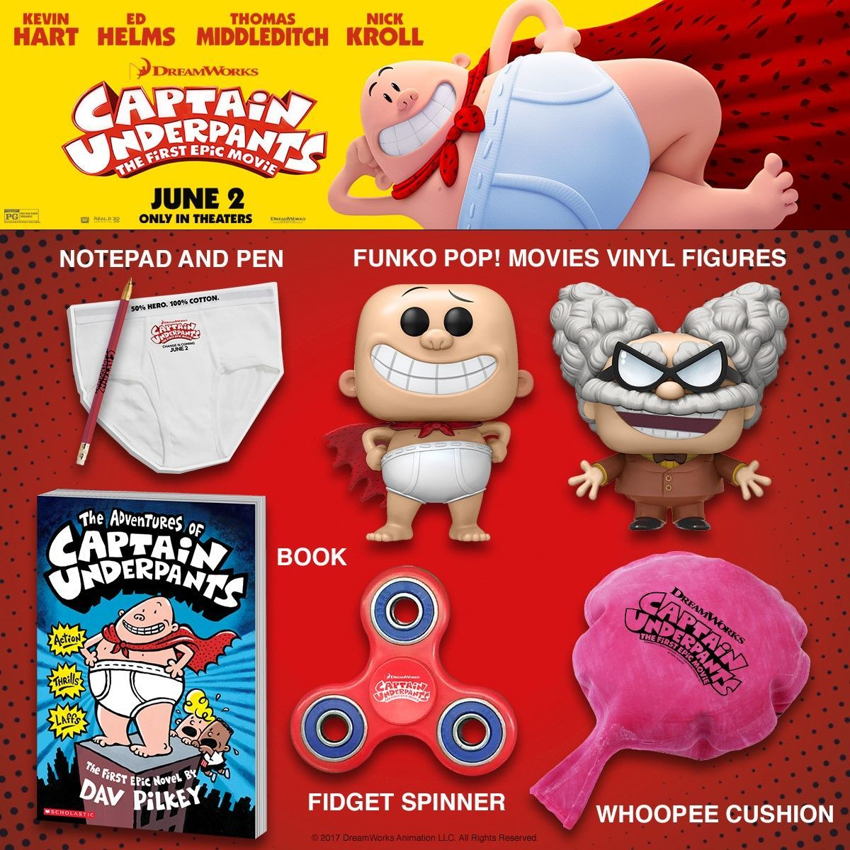 Captain Underpants The First Epic Movie Epicmovie This Raucously Subversive Comedy For The Entire Family Tells The Stor Captain Underpants Epic Movie Captain