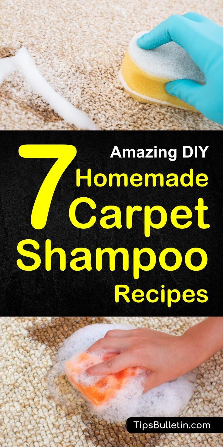 7 Diy Homemade Carpet Shampoo Recipes Cleaning Hacks