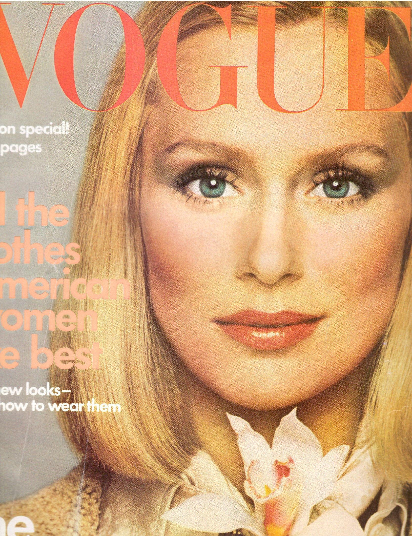 1975 vogue magazine lauren hutton melanie cain hairstyles