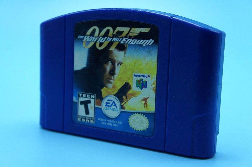 007 The World Is Not Enough Blue Cartridge N64 Nintendo 64 Rare