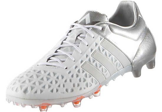 huge discount 536e8 96ee8 Adidas ACE 15.1 FG Soccer Cleats (White Silver)
