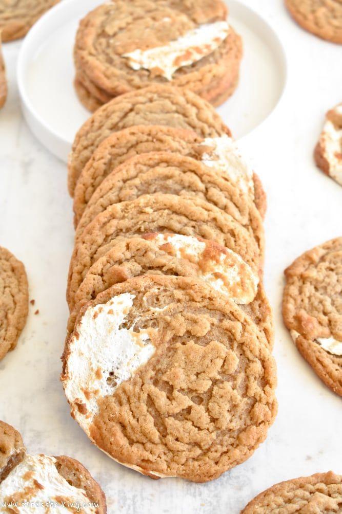 Fluffernutter Cookies #cookies