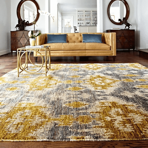 Xavier Hand Knotted Area Rug In Grey Gold Loloi Rugs Rugs Decor