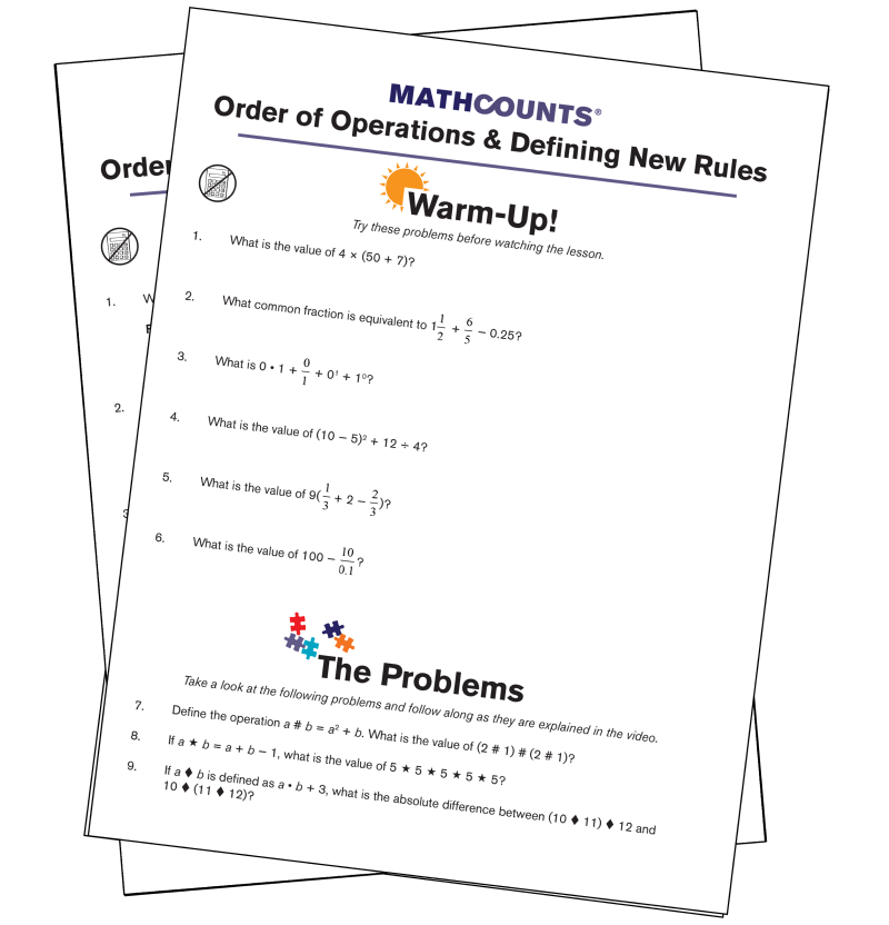 Free Online Middle School Math Lesson Order of Operations