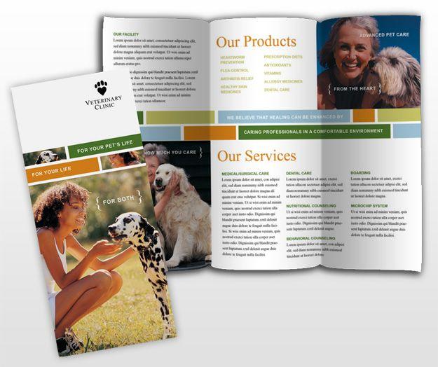 Veterinary Brochures Templates  Veterinarian Clinic  Animal