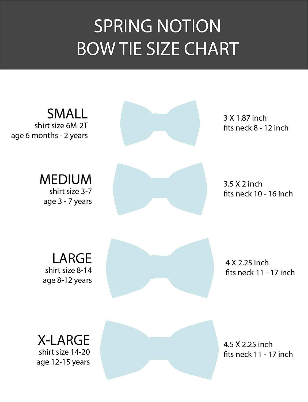 Resultado De Imagen Para Bow Tie Size Chart
