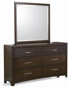 Edison Dresser Is Made From Solid Malaysian Oak Wood Construction With Java Oak Finish Beautiful Modern Design 6 Drawer Dresser Dresser Drawers