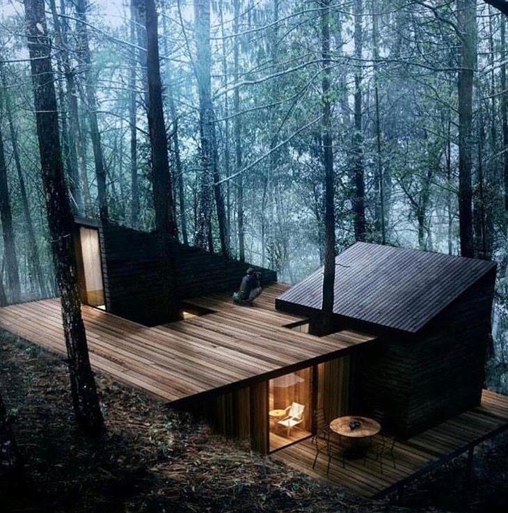 Forest cabin   Häuser   Pinterest   Architektur, Holzhäuschen und ...