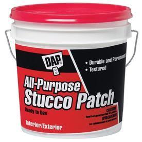 Dap 128 Oz White Stucco Patch 60590 Stucco Patch Drywall Repair Used Vinyl