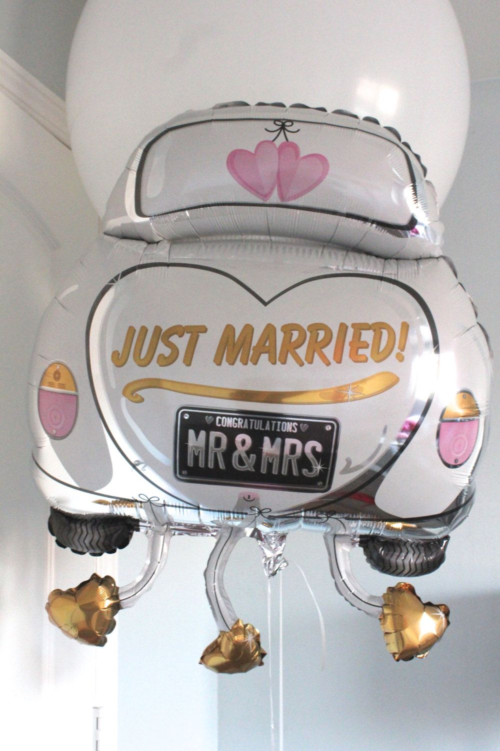 Just Married Balloon Wedding Newly Celebration By Loveprettydetails On Etsy