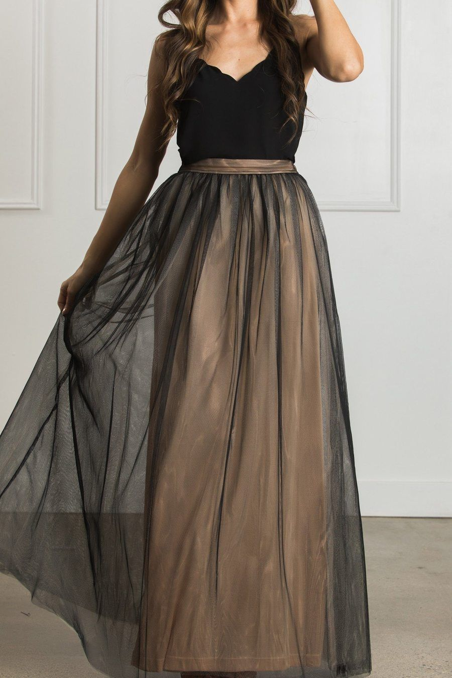 Shop The Anabelle Tulle Maxi Skirt Boutique Clothing Featuring Fresh Feminine And Affordable Styles Tulle Maxi Skirt Maxi Skirt Outfits Ladies Dress Design [ 1350 x 900 Pixel ]