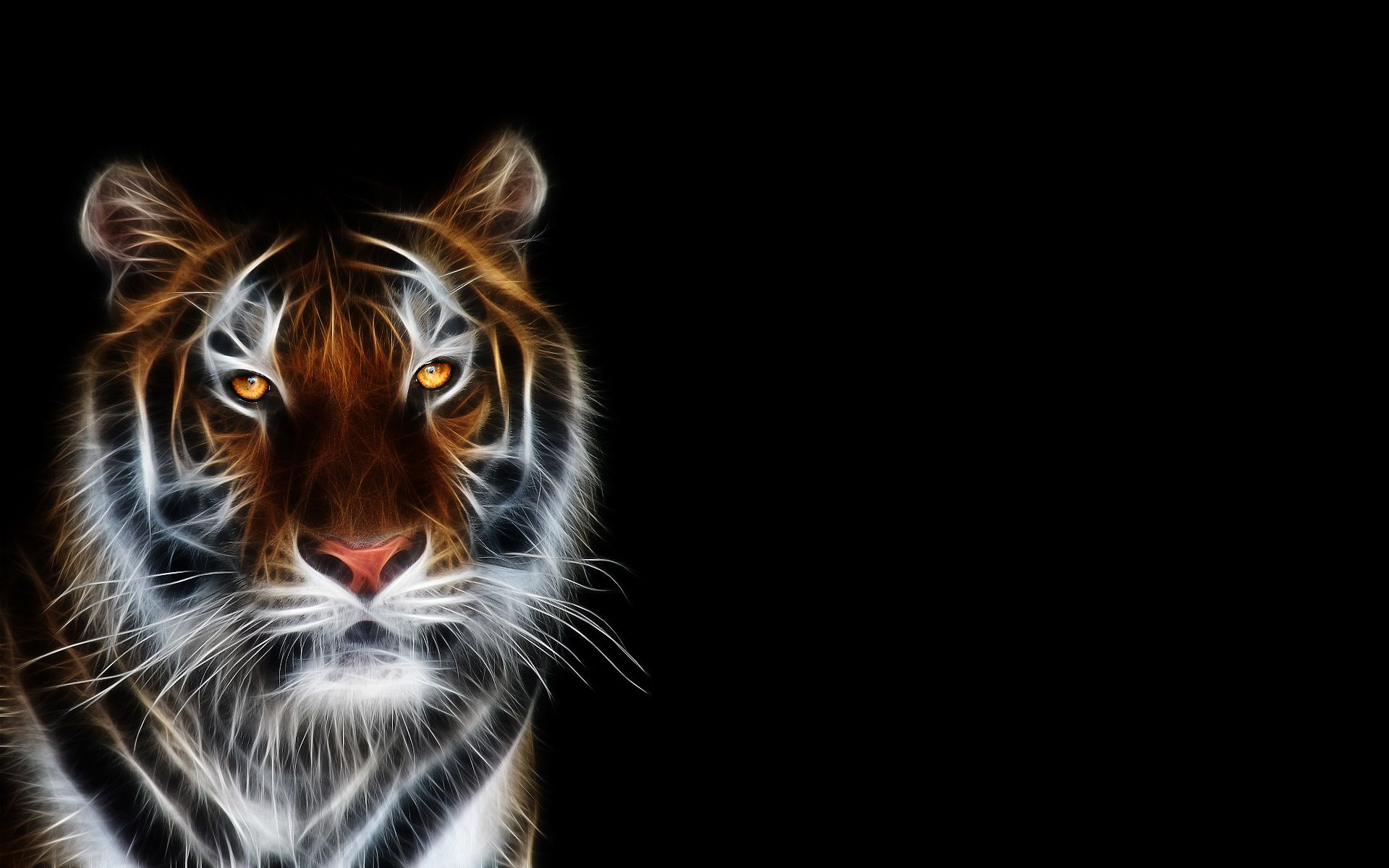 Abstract anime art tiger abstract animal beautiful cat cg light tiger digital art hd desktop wallpaper tiger wallpaper digital art no altavistaventures Image collections