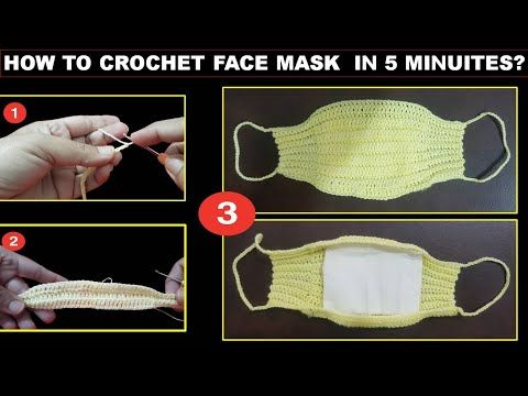 Photo of Crochet Face Mask at home for Corona Virus Protection