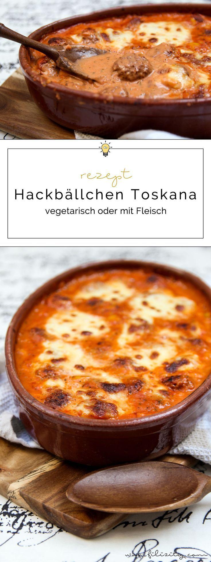 Hackbällchen Toskana (vegetarisch oder mit Fleisch) | Filizity.com #vegetariandish