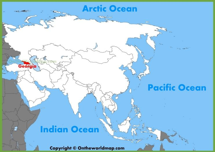 Georgia location on the Asia map Maps Pinterest Asia map - new world map blank with countries border