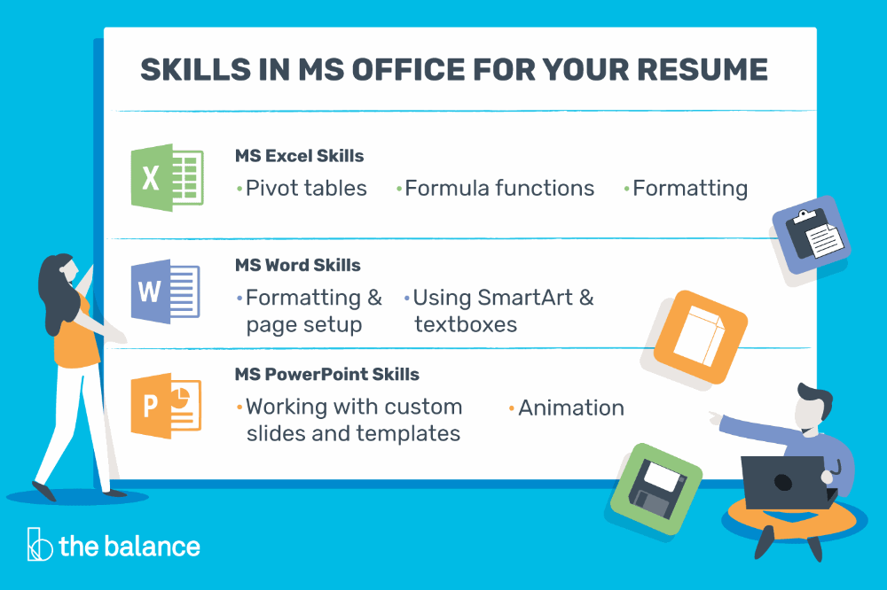 Add Microsoft Office Skills To Your Resume Cover Letters And Job Applications With This Skills List With T Resume Skills Cover Letter For Resume Word Skills