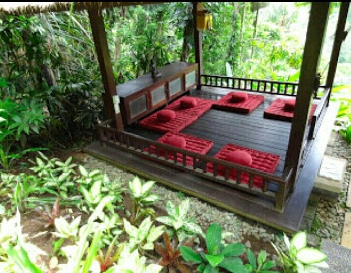 Meditation Platform Deck Pergola Floor Pillows In 2019