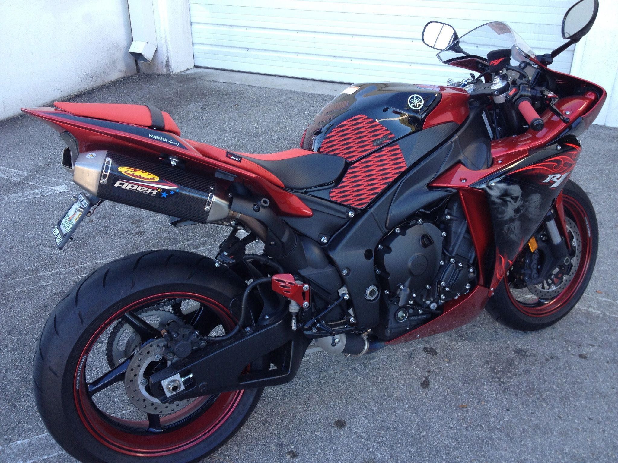 Bike sticker design online -  Candy Red Black Metallic Powder Coated Rear Sets Wheels Along W Custom Seat Covers Traction Pads Levers Grips Wheels Stripes Body Stickers