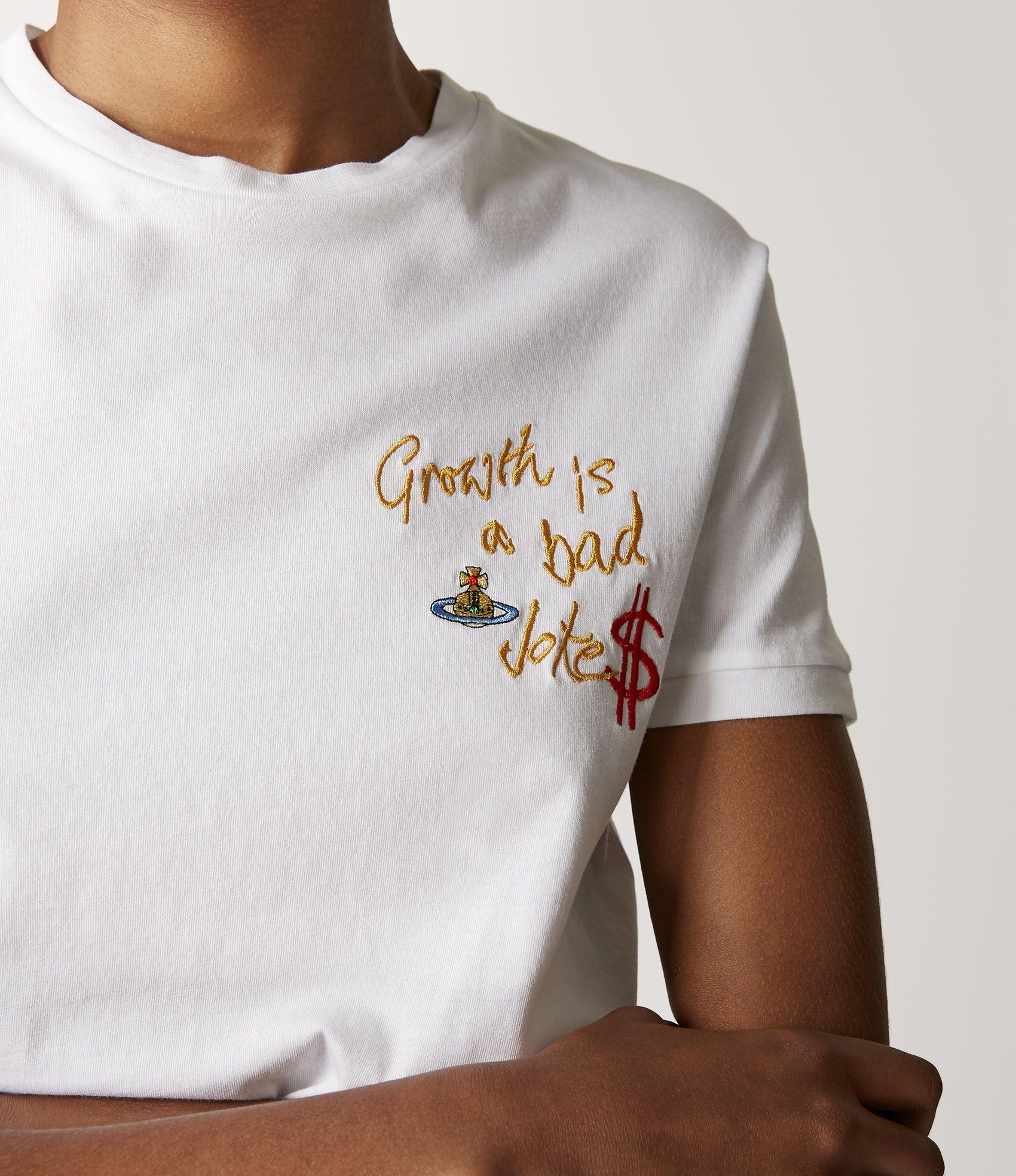 418ce6b8f68b Vivienne Westwood T-Shirts   Women's cloting   Vivienne Westwood - Growth  Is A Bad Joke Peru T-Shirt White
